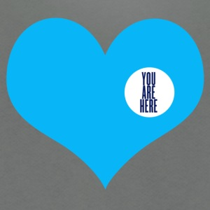 you are here - love and valentine's day gift T-shirts (manches courtes) - Veste à capuche unisexe American Apparel