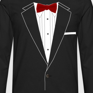 Tuxedo Red Bowtie T-Shirts - Men's Premium Long Sleeve T-Shirt