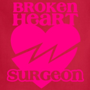 Broken heart surgeon funny design for anyone out of luck with Romance T-Shirts - Adjustable Apron