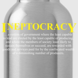 Ineptocracy definition T-Shirts - Water Bottle