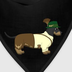bavarian dachshound white Kids' Shirts - Bandana