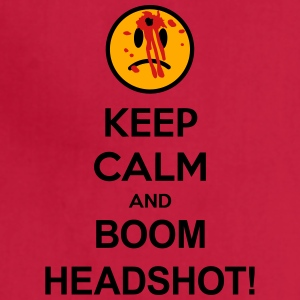 Keep Calm And Boom Headshot T-Shirts - Adjustable Apron