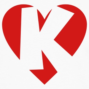 I love K T-Shirt - Heart K - Heart with letter K - Men's Premium Long Sleeve T-Shirt
