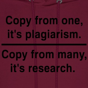 Copy from one its plagiarism T-Shirts - Men's Hoodie