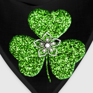 Glitter Shamrock And Flower Toddler Shirt - Bandana