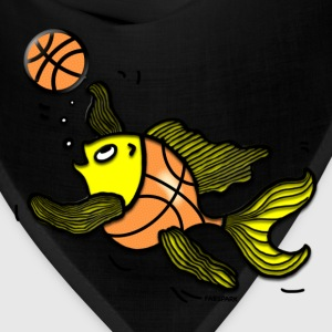 Basketball Fish, Fish Playing Basketball - Bandana