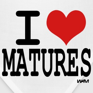 White i love matures by wam Women's T-Shirts - Bandana