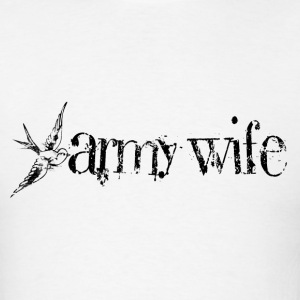 ARMY WIFE W/ SWALLOW HOODIE - Men's T-Shirt