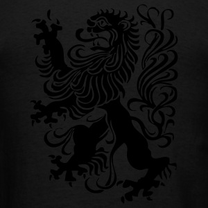 Black royal lion design Zip Hoodies/Jackets - Men's T-Shirt