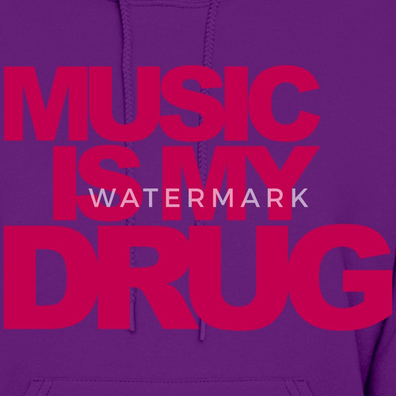 Light pink Music Is My Drug Hoodies - Women's Hoodie