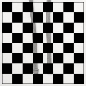 Chess Board Checkers 1c - Contrast Hoodie