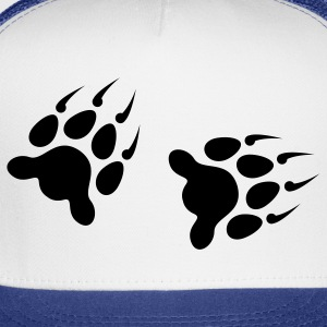 Wolf Footprints 1c - Trucker Cap