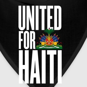 Black united for haiti white - all author rights will be Kids' Shirts - Bandana