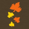 Brown autumn leaves Women's T-Shirts - Women's T-Shirt