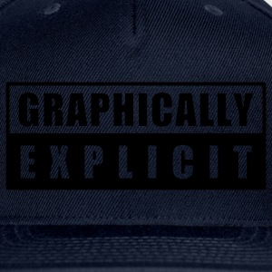 Navy graphically explicit Women's T-Shirts - Snap-back Baseball Cap