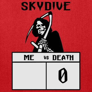 Red Skydive Me vs Death T-Shirts - Tote Bag