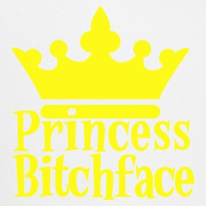 White PRINCESS BITCHFACE with royal crown T-Shirts - Trucker Cap