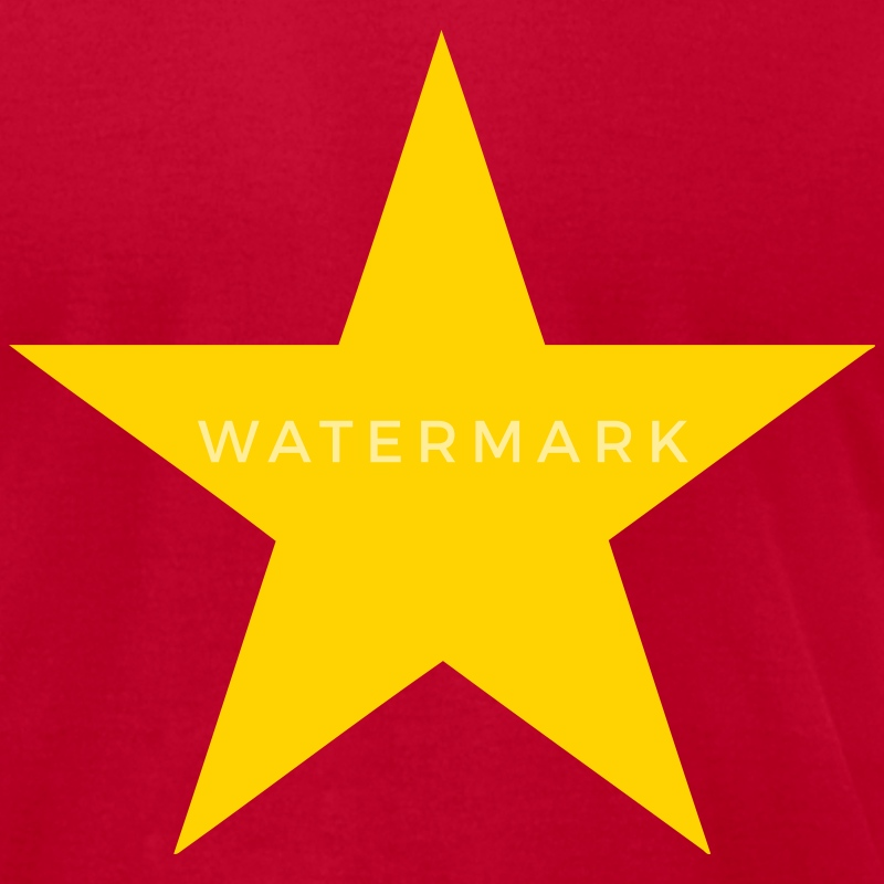 Red Communist Red Star (1c) T-Shirts - Men's T-Shirt by American Apparel