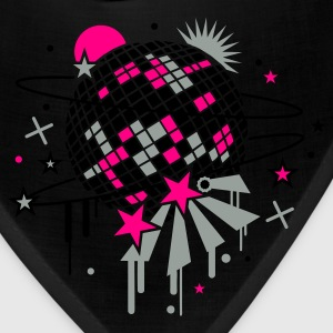 Black disco_ball Women's T-Shirts - Bandana