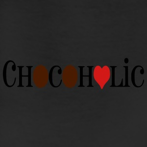 Chocoholic, Womens Chocolate Lover Heart T-Shirt, Brown, Gold, Red - Leggings