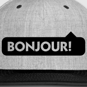 Bonjour (1c) Hoodies - Snap-back Baseball Cap