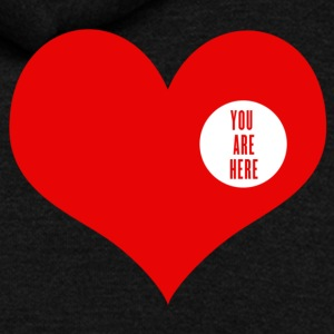 You are here - love and valentine's day gift T-shirts Enfant - Veste à capuche unisexe American Apparel