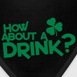 how about a drink? IRISH SHAMROCK clover Zip Hoodies/Jackets - Bandana