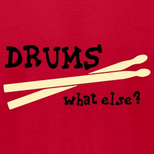 Drums, what else? Baby Bodysuits - Men's T-Shirt by American Apparel