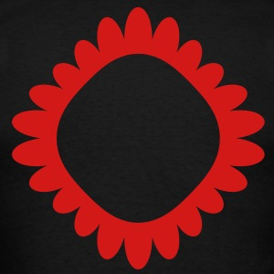 unusual red circle flower shaped cameo Long Sleeve Shirts - Men's T-Shirt