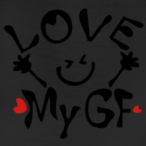 Love My GF Men's V-Neck T-Shirt by Canvas - Leggings