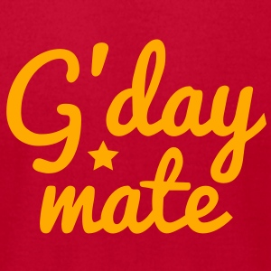g'day mate (hello chap) Baby Bodysuits - Men's T-Shirt by American Apparel