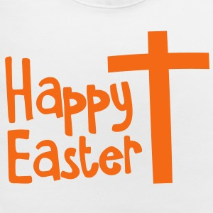 Happy EASTER with a Christian cross Kids' Shirts - Baby Bib