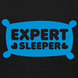 expert sleeper on a pillow shape Long Sleeve Shirts - Men's T-Shirt