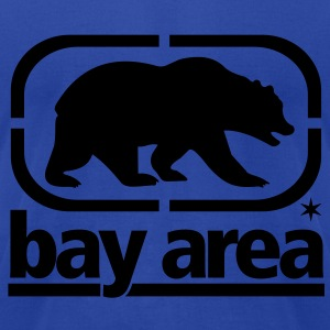 BAY AREA BORN AND RAISED - CALIFORNIA - SAN FRANCISCO - Men's T-Shirt by American Apparel