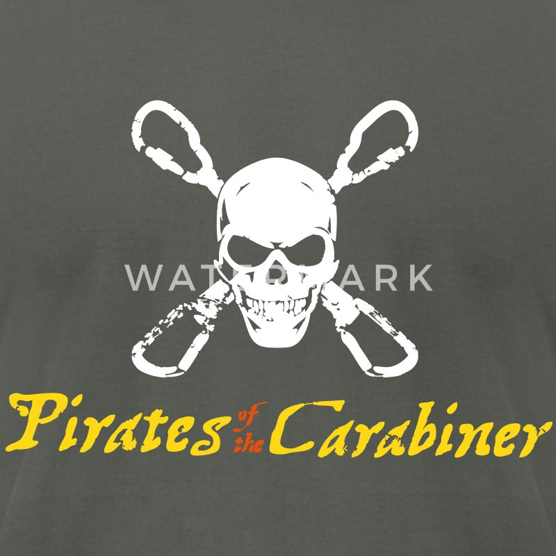 Pirates of the Carabiner (3-color vector) T-Shirts - Men's T-Shirt by American Apparel