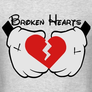 Broken Hearts (Vector) Long Sleeve Shirts - Men's T-Shirt