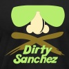 Dirty Sanchez (specialty print) - Men's T-Shirt by American Apparel