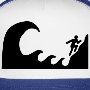 White Tsunami Warning T-Shirts (Short sleeve) - Trucker Cap