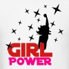 White Girl Power Stars Kids' Shirts - Men's T-Shirt