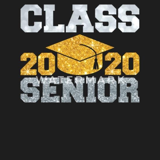 High School Graduation 2020.Class 2020 Senior T Shirt High School Graduate Cap Unisex
