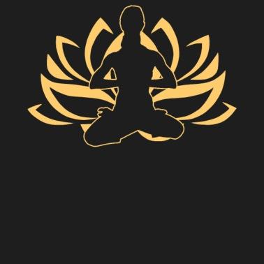 namaste yoga girl yoga lotus pose illustration women's t