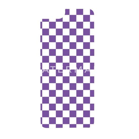 Purple Checkerboard iPhone 6/6s Rubber Case - white/black