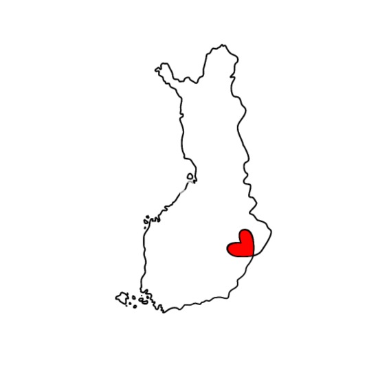 FINLAND - HEART - outline map iPhone 6/6s Rubber Case - white/black
