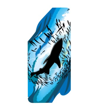 Shark Teeth Shark Aggression Shark In Water Iphone X Xs Case White Black