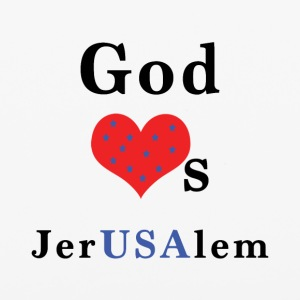 God_Loves_JerUSAlem_w-stars - iPhone 6/6s Rubber Case