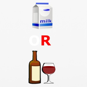 milk or wine - iPhone 6/6s Rubber Case