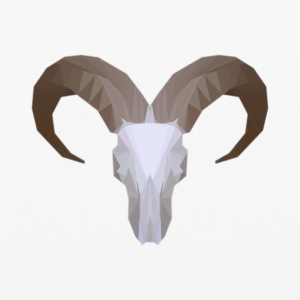Low Poly Aoudad Skull - iPhone 6/6s Rubber Case