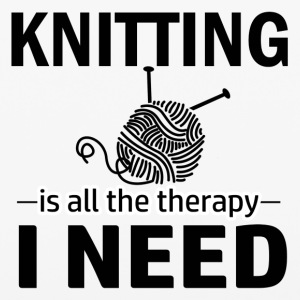 Knitting is my therapy - iPhone 6/6s Rubber Case