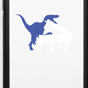Velociraptor Playing Piano - iPhone 6/6s Rubber Case