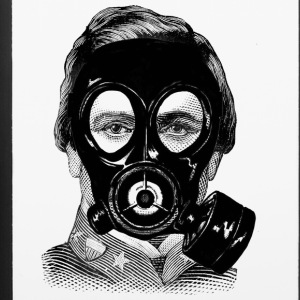 Gas mask Man - iPhone 6/6s Rubber Case